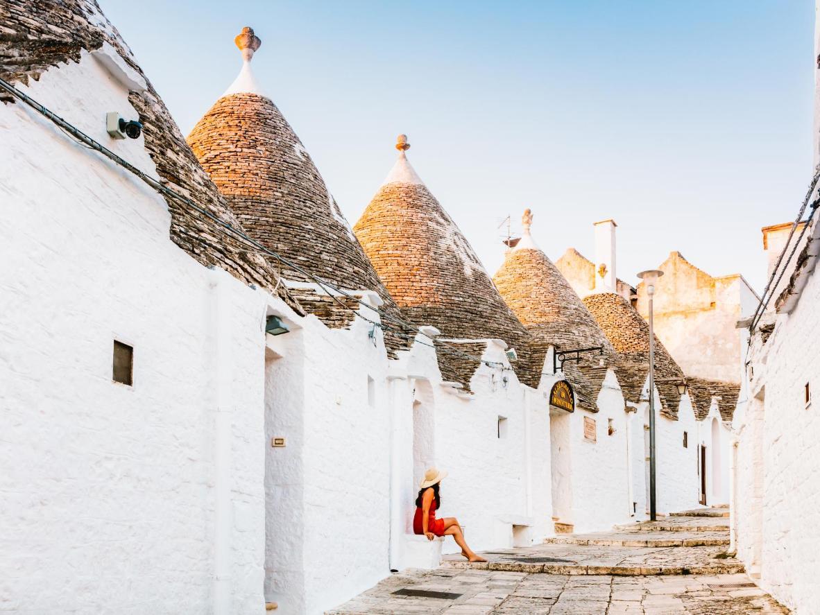 The unique dry stone huts of Alberobello