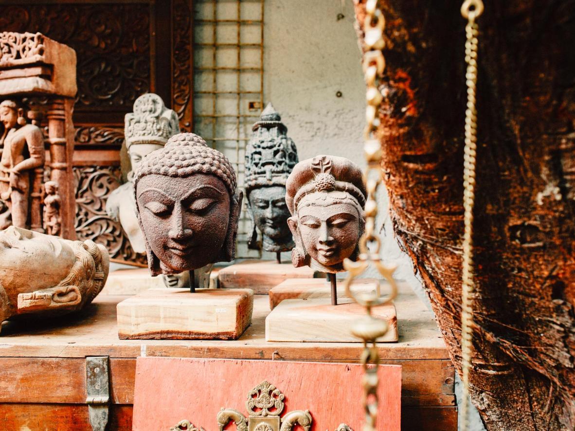 Handmade Ornaments at the Chor Bazaar, Mumbai