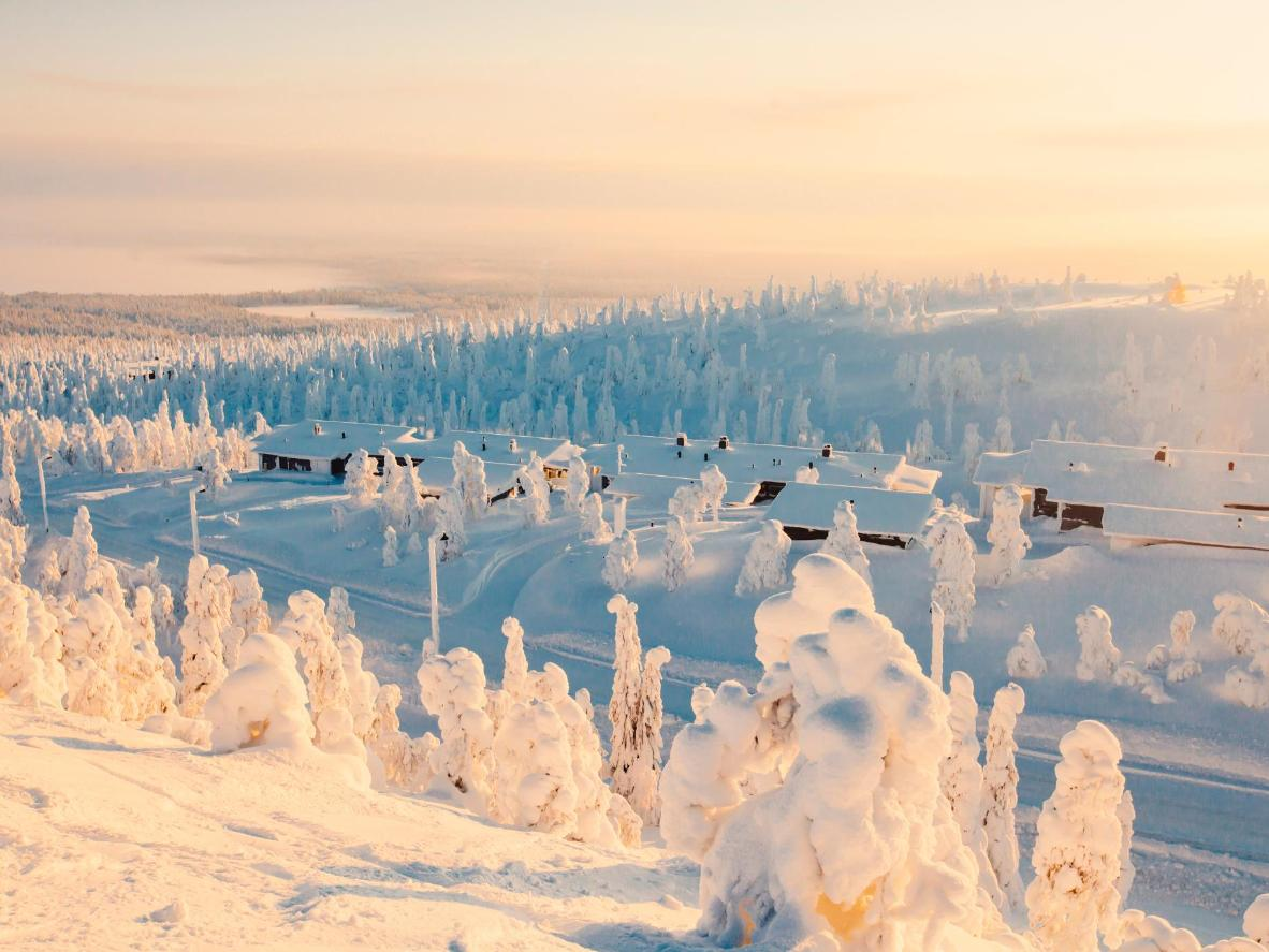 The eerie winter wonderland surrounding Rovaniemi