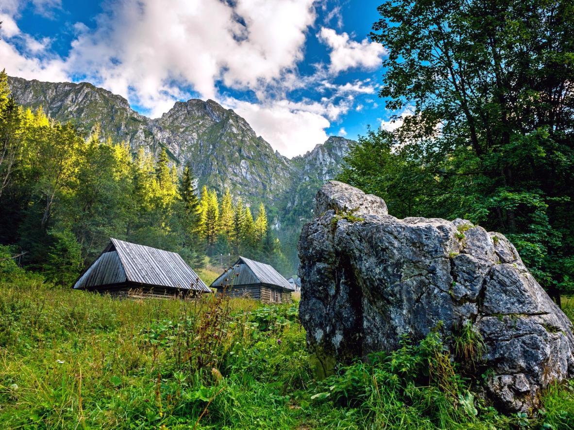Shhh. Beware of sleeping giant: Mount Giewont as seen from Strążyska Valley