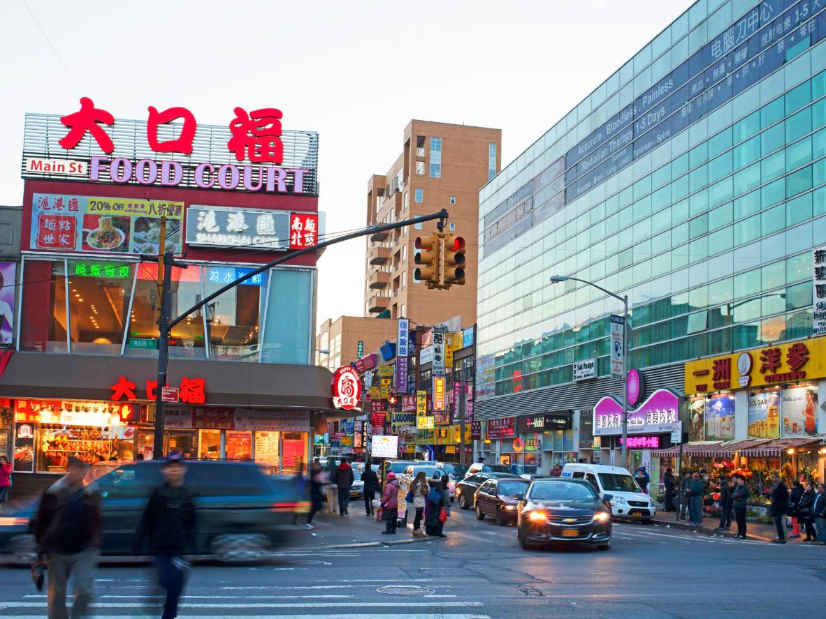 Flushing's Chinatown is known for its shopping center food courts
