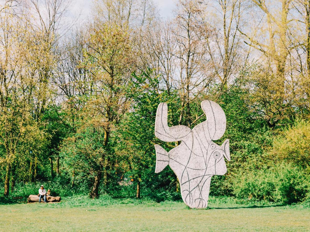 Keep an eye out for an authentic Picasso sculpture in Vondelpark