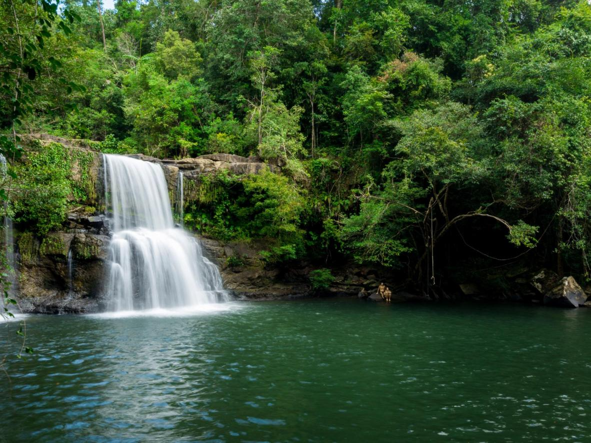 Hike through the jungle to discover hidden waterfalls