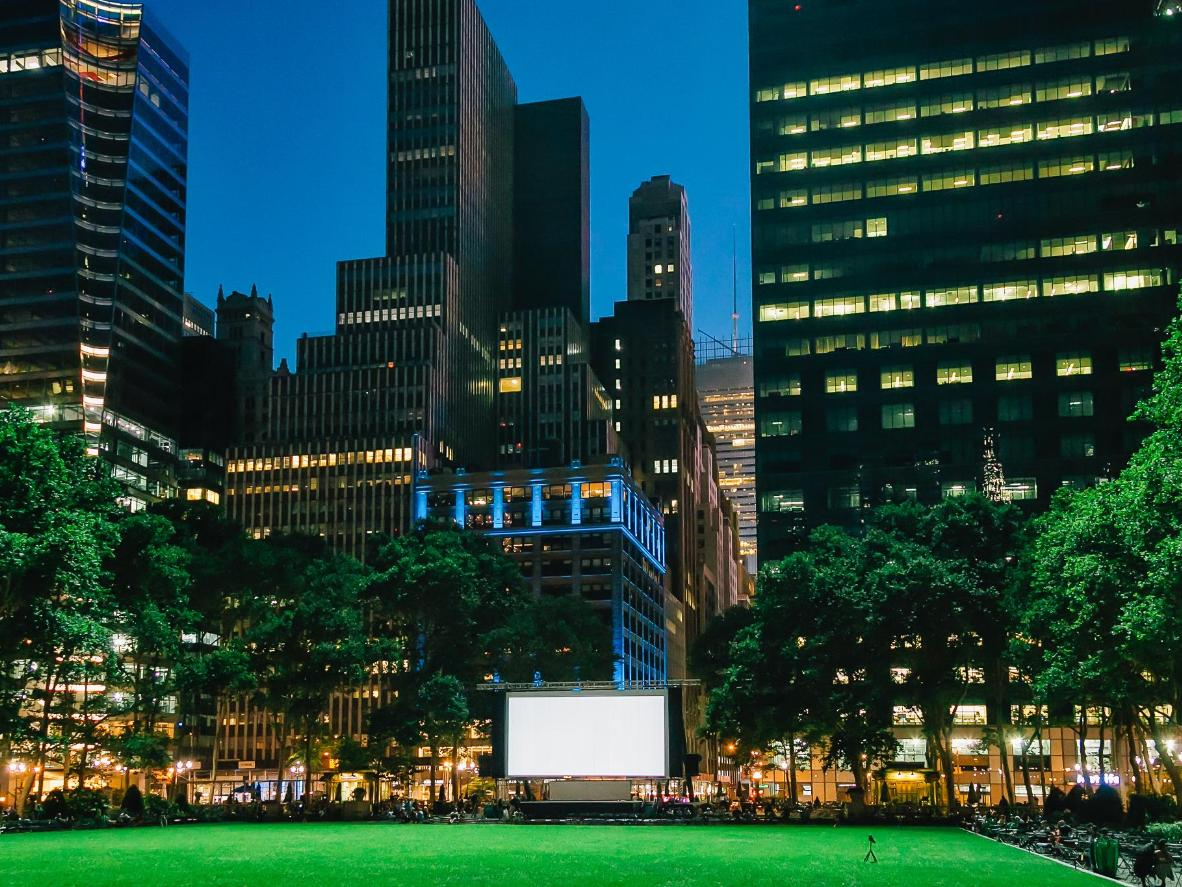 After-hours rooftop movies