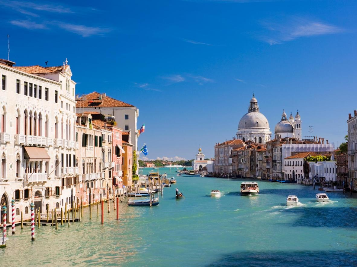Take a vaporetto, water taxi or gondola up the Grand Canal, Venice