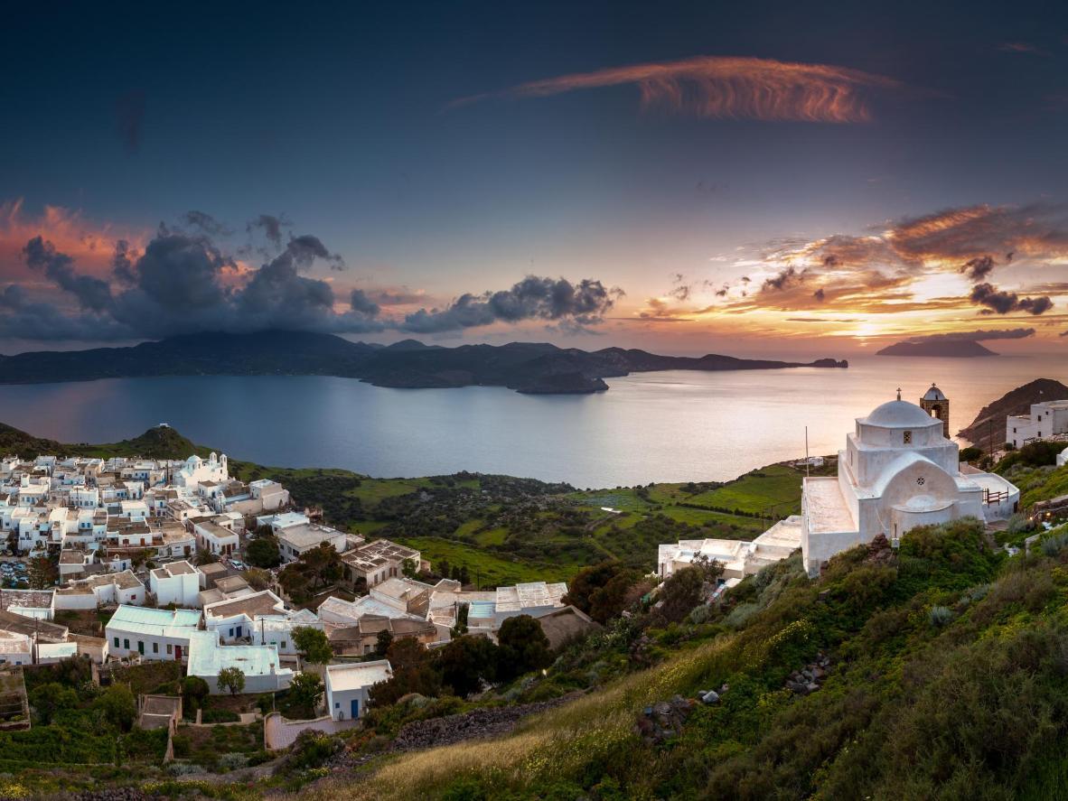 Un tipico tramonto greco da Plaka Milou