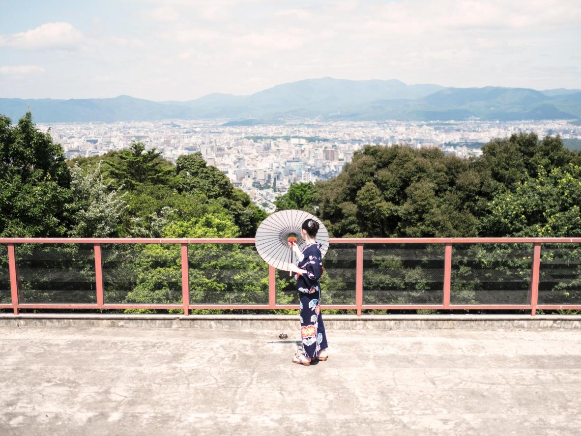 "Nandin: ""It's quite a trek, but the Shogunzuka Mound has one of the most glorious views of Kyoto."""