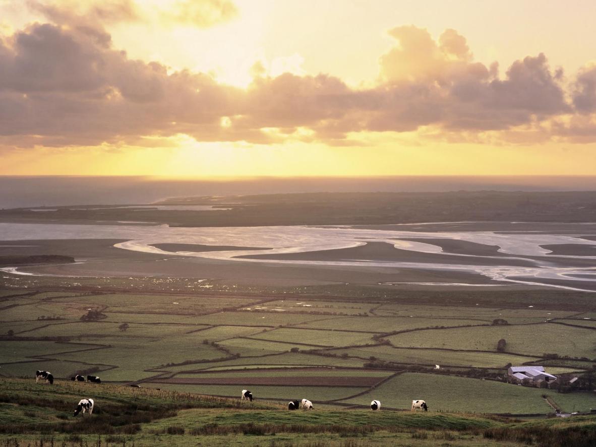 The bucolic Lancashire landscape