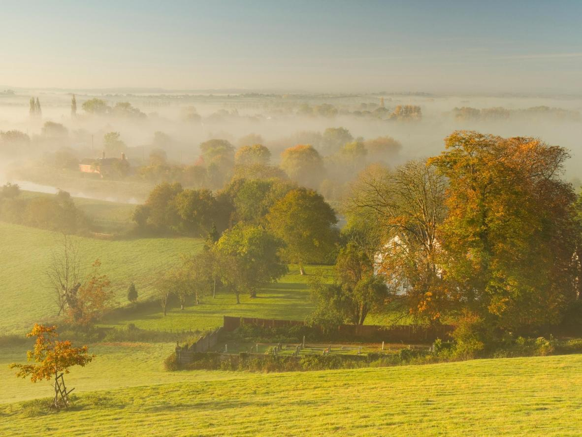 The surround Somerset landscape is best explored on a crisp autumn morning