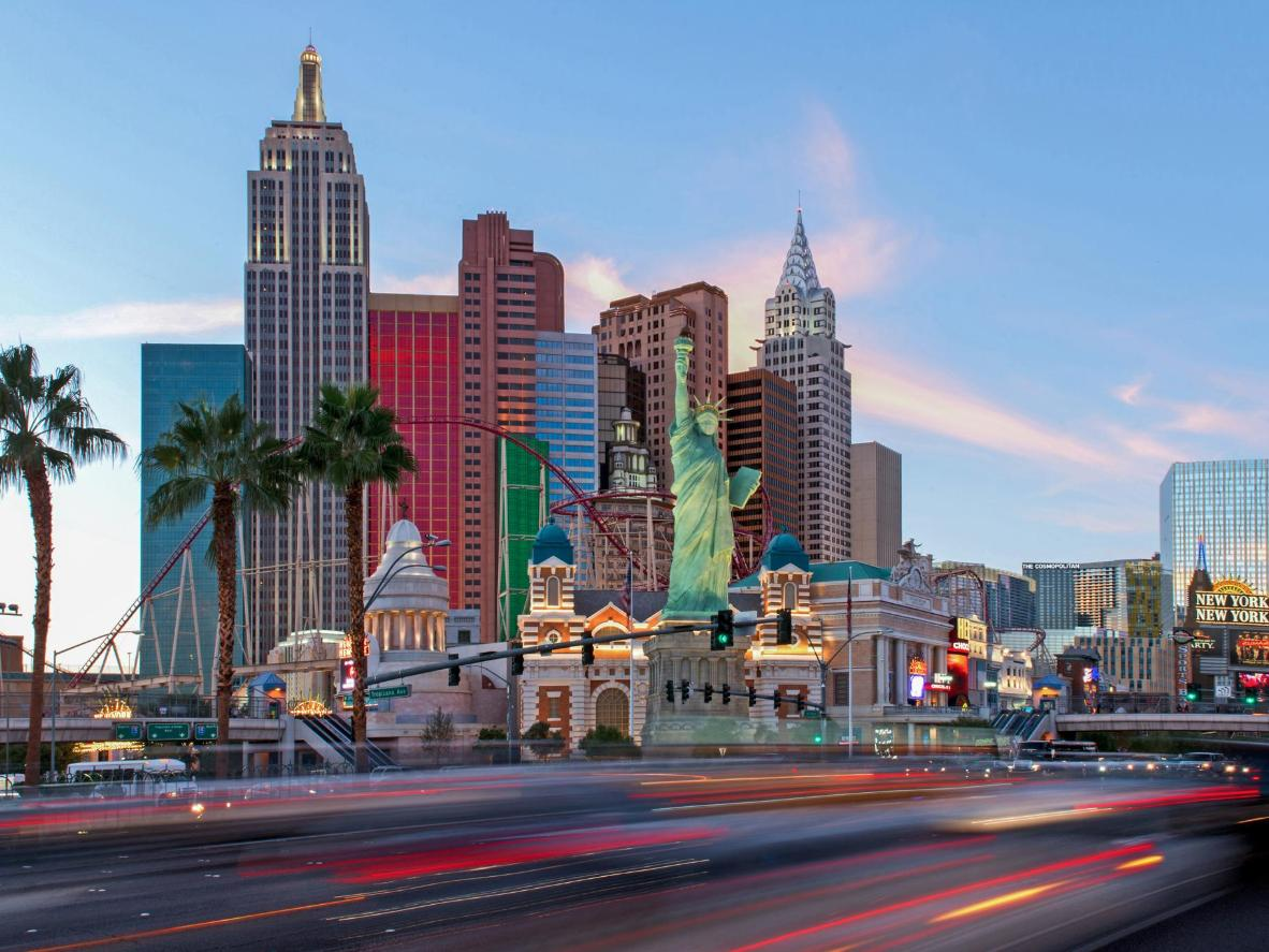 Hire a group limo and lap up the kitsch in Las Vegas