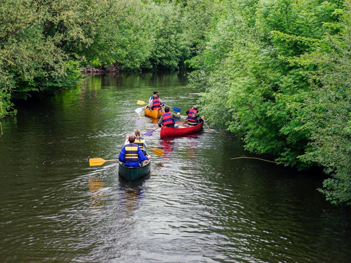 Canoe down peaceful rivers in the Ardennes