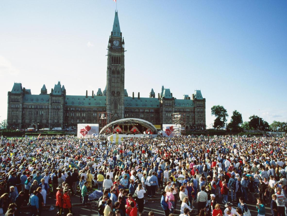 The iconic Parliament Hill is Ottawa's Canada Day hot spot
