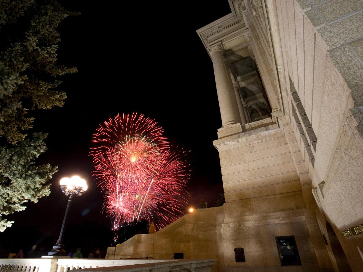 Regina's celebrations come to a close at 11pm with a firework display