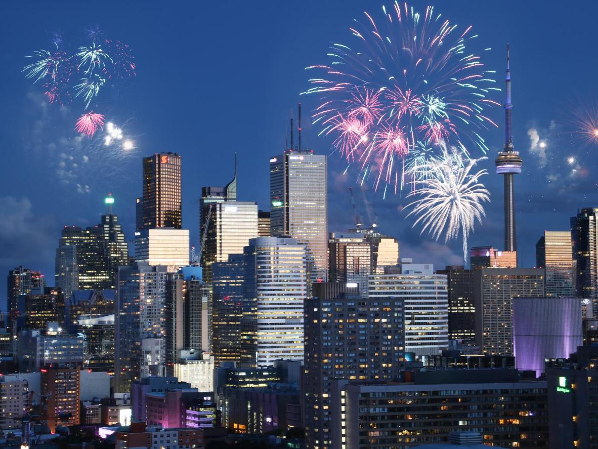 Toronto's music-filled weekend ends with a spectacular fireworks display