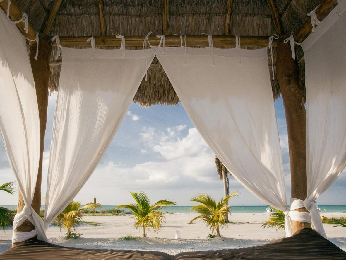A paradisiacal set up on Holbox Island, Mexico