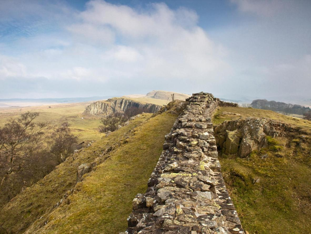 Walk the well-preserved Roman frontier, Hadrian's Wall