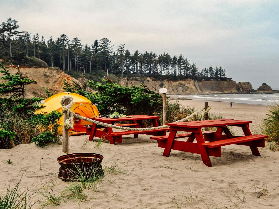 Enjoy an almost private beach at this Oregon campground