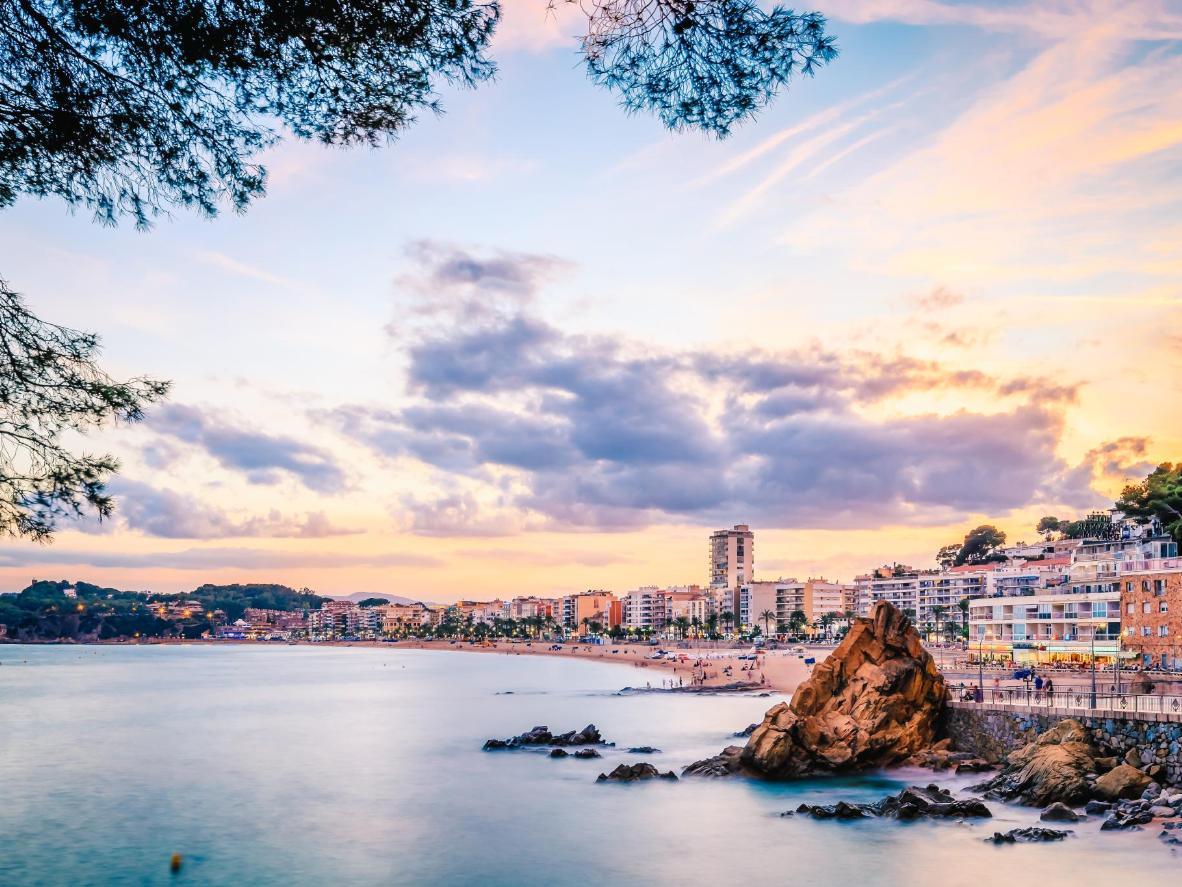 Sunset over Lloret de Mar is best enjoyed from a 'xiringuito' beach bar