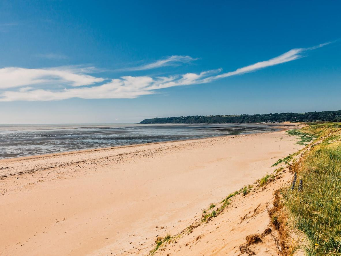The beach near Lion-sur-Mer at low tide