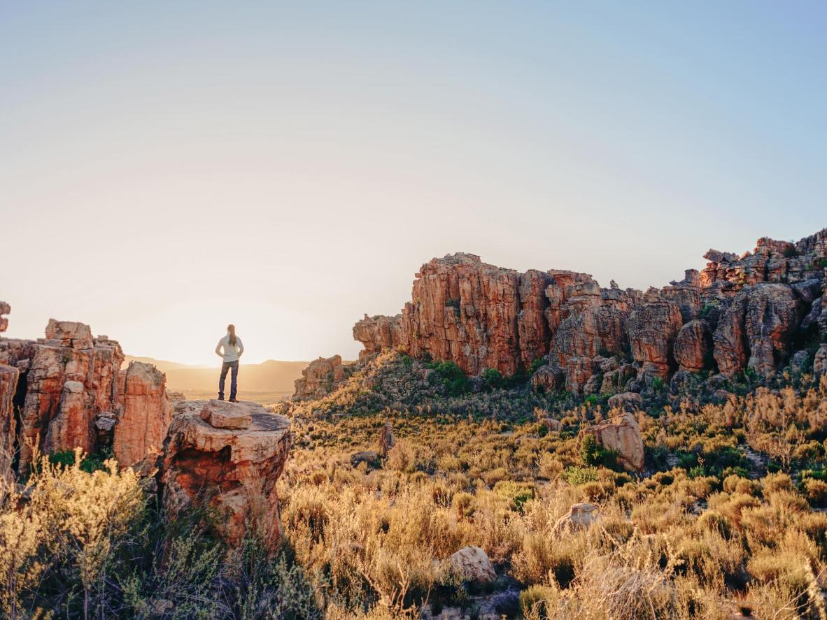 Admiring the Cederberg Mountains in South Africa