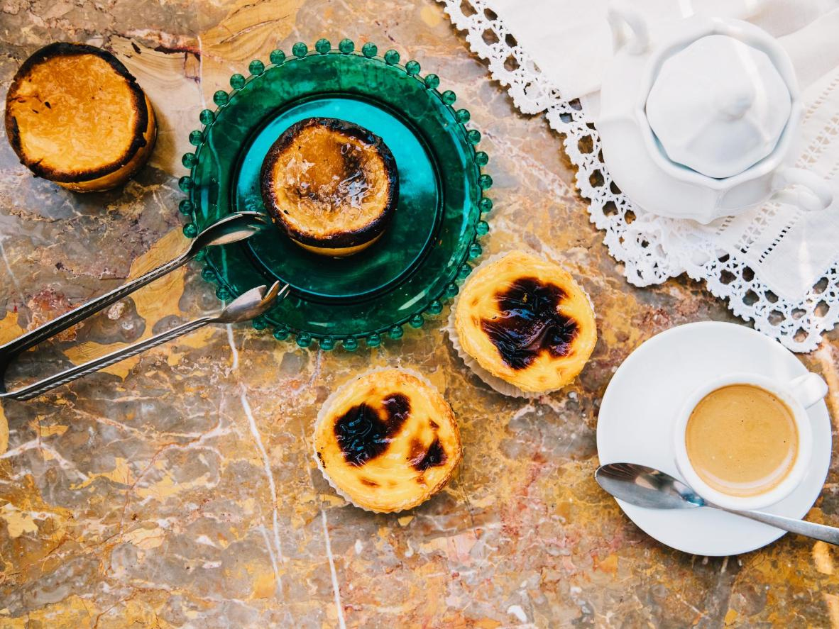 The perfectly-formed Portugese custard tart