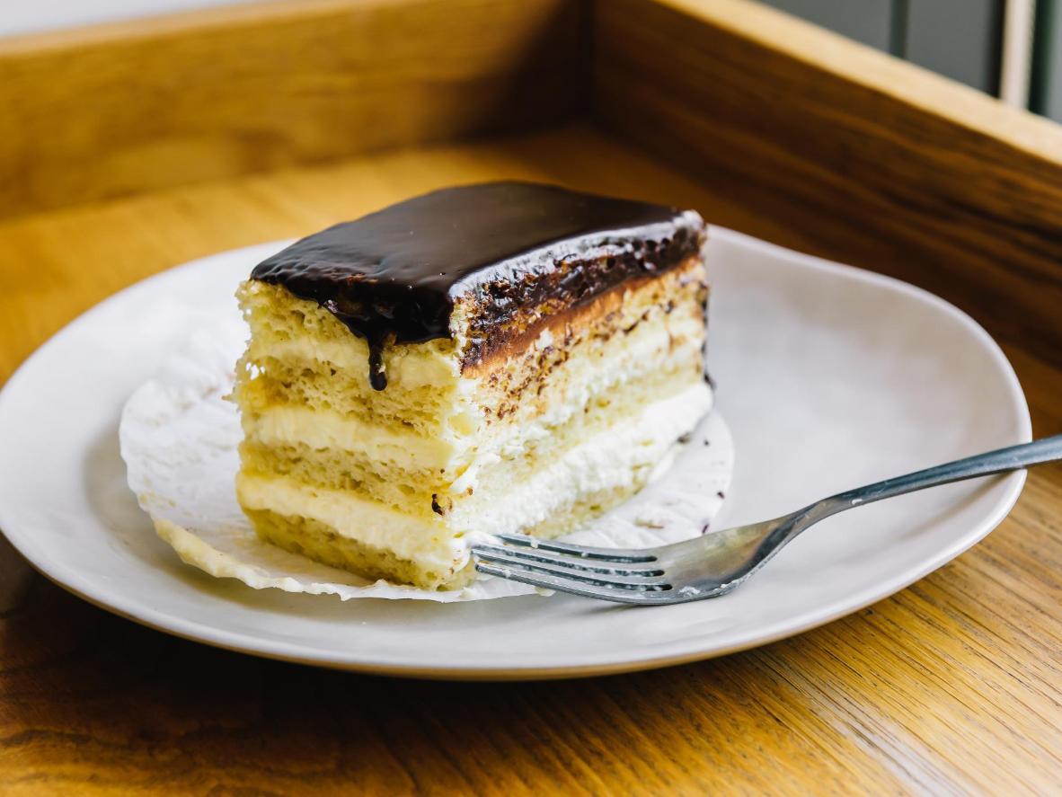 Still a local favourite, the Boston cream pie