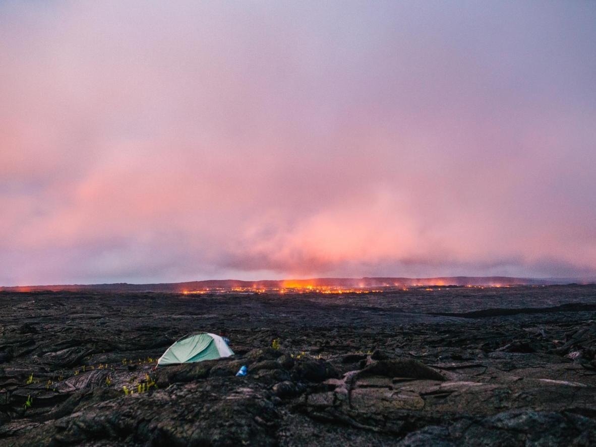 Lava flow from the Kiluea Volcano