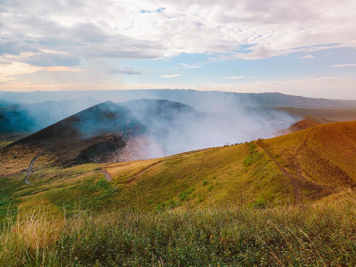 A crater at Volcan Masaya