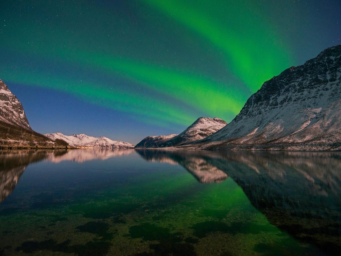 The Aurora Borealis over Tromsø