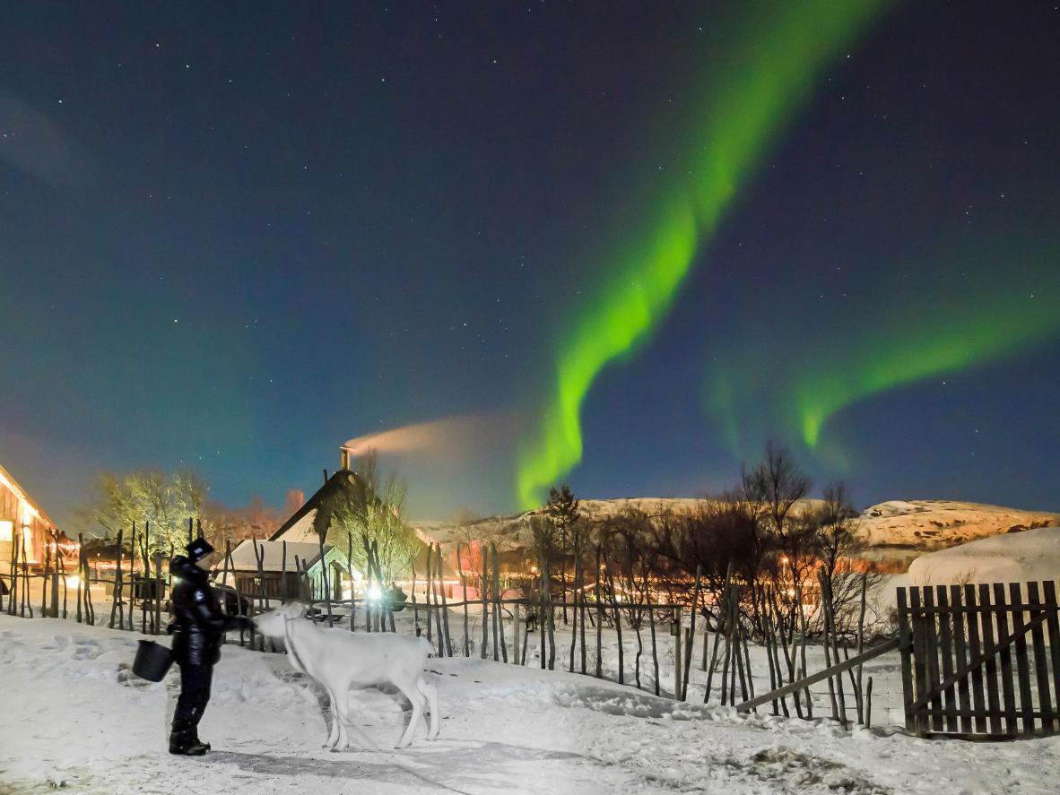 Kirkenes is a particularly remote Aurora Borealis viewing spot