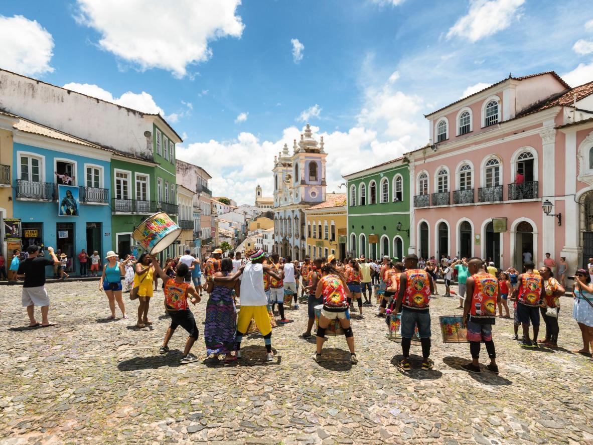 Street musicians in Salvador