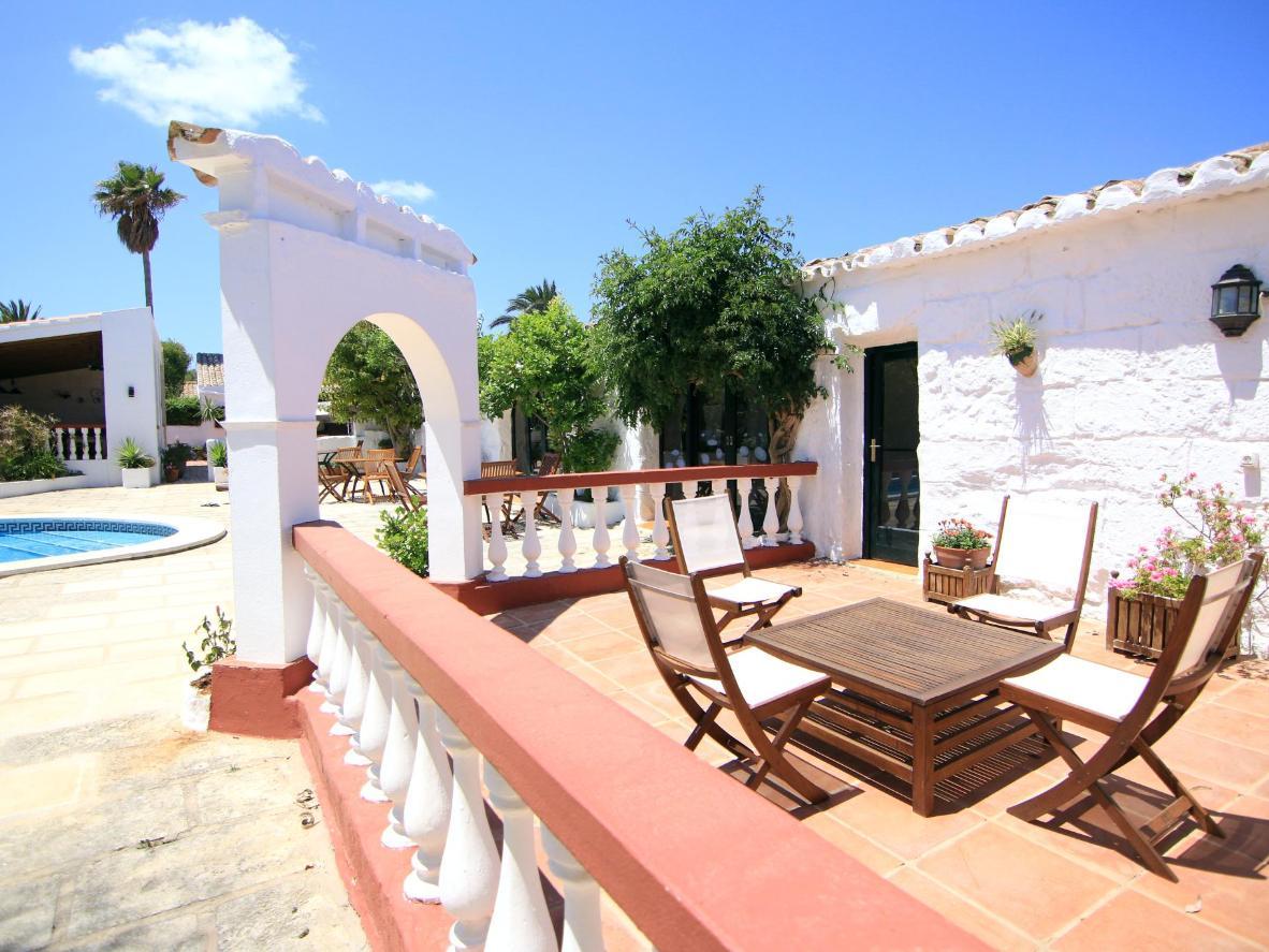 Farms and pools in rural Menorca