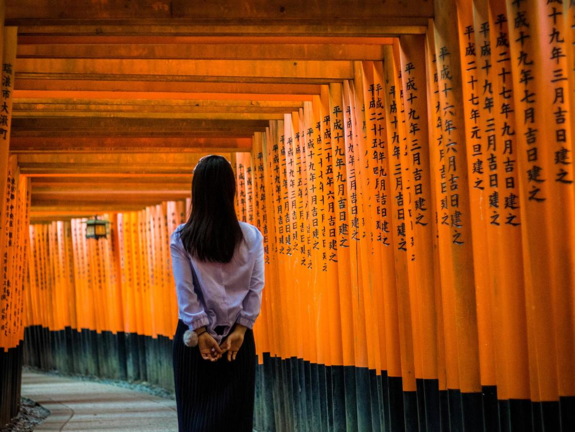 The iconic red torii gates are a must-see in Kyoto