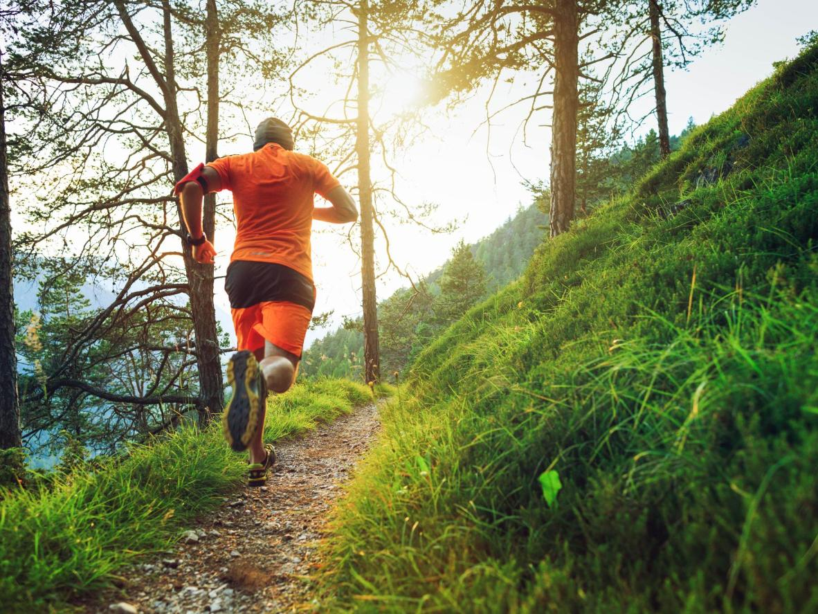 Trail running in the Dolomites region