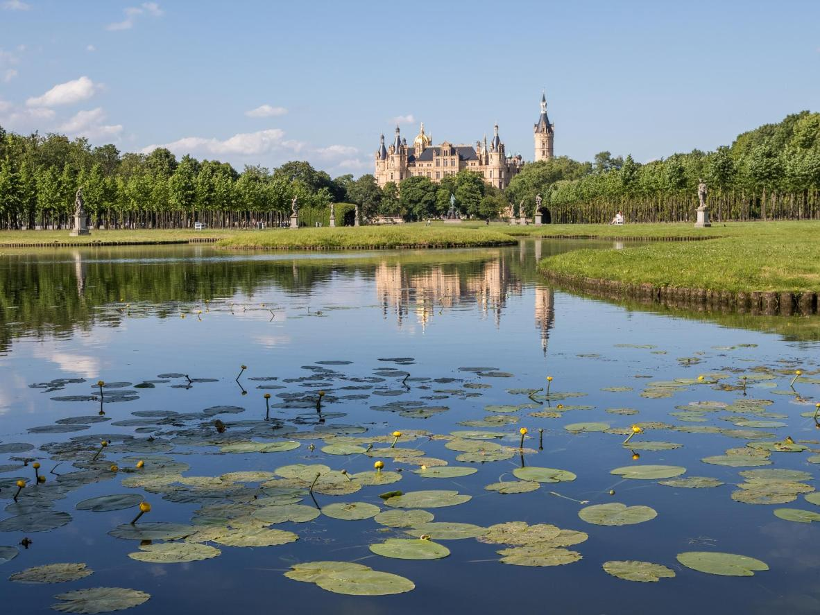 Schwerin Castle can be found on an island in the city's main lake