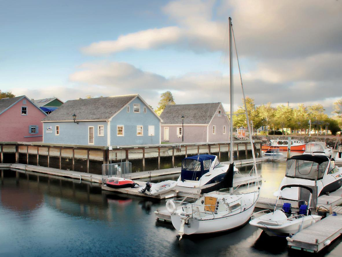 Peake's Wharf Historic Waterfront is a great place for a walk