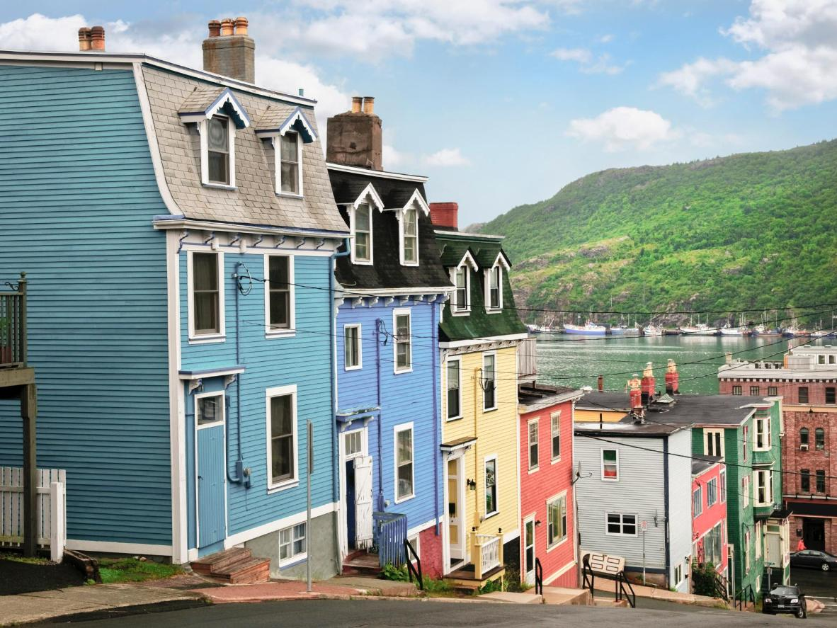 The city's colourful houses add an inviting pop of colour