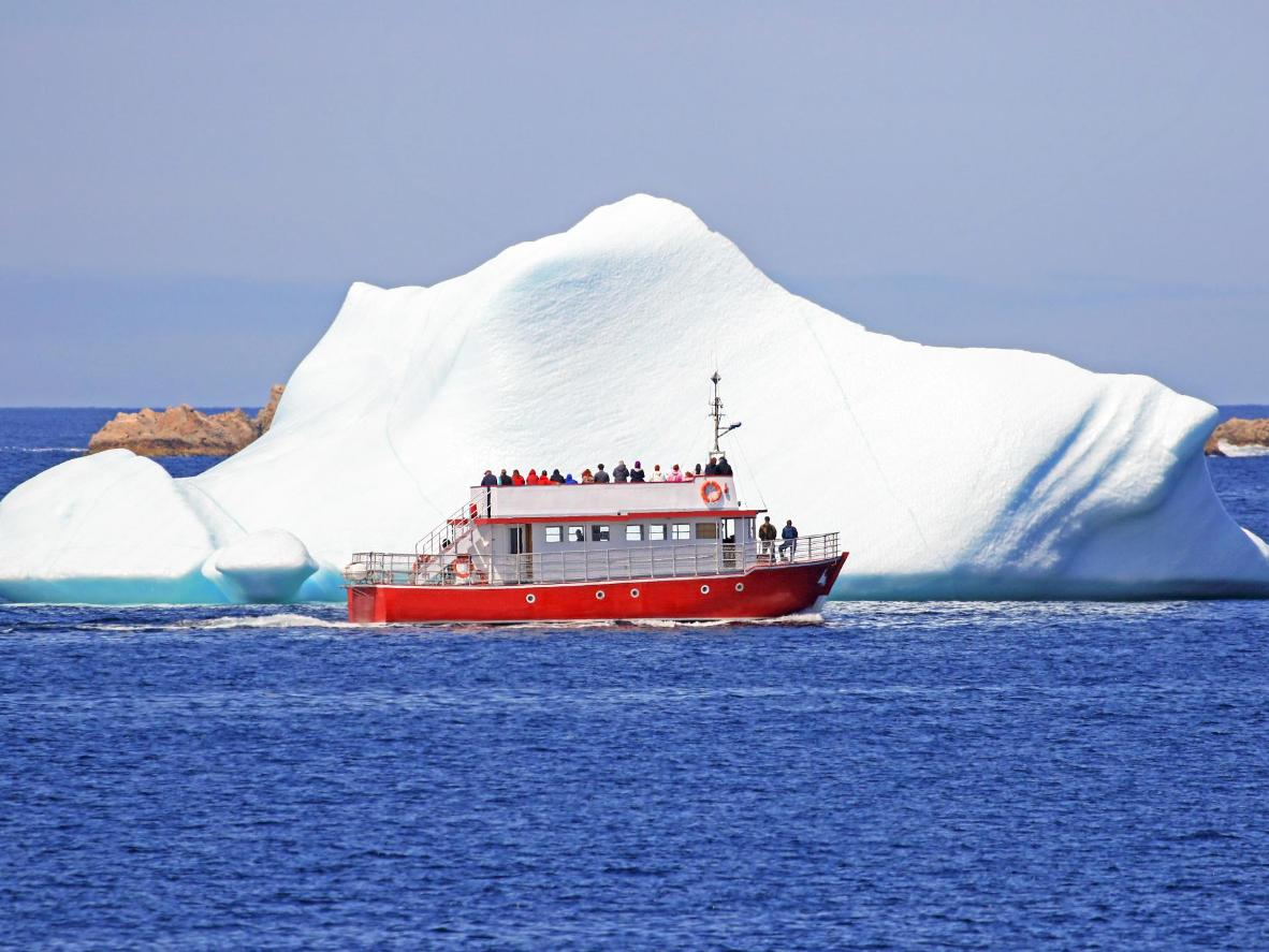 Between May and July is prime iceberg season