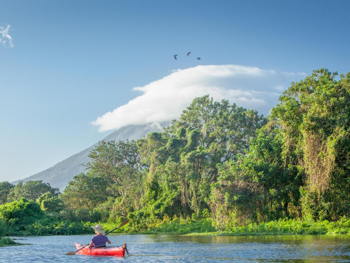 Take a kayak tour through the island of Ometepe
