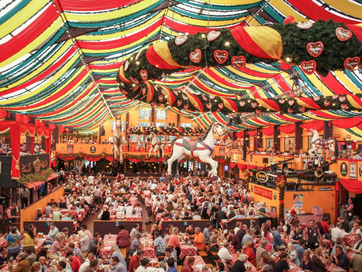 Almost 2 million gallons of beer are served during Oktoberfest