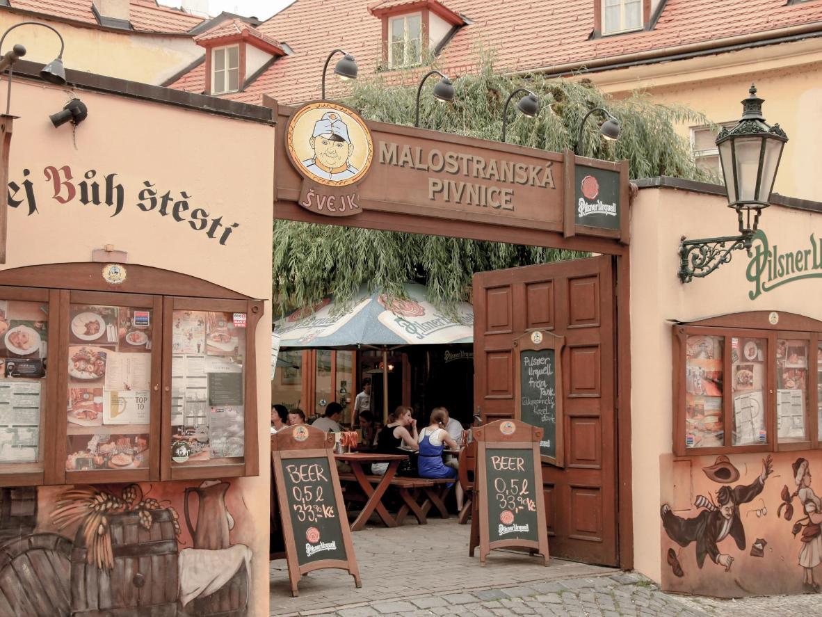 Malostranská Pivnice is celebrated for its typically Czech atmosphere