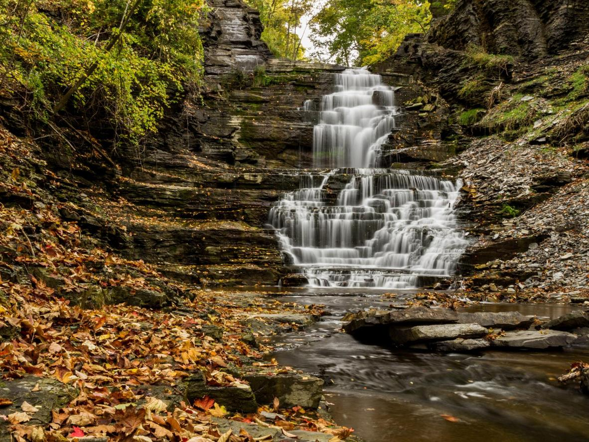 Ithaca has more than 100 waterfalls