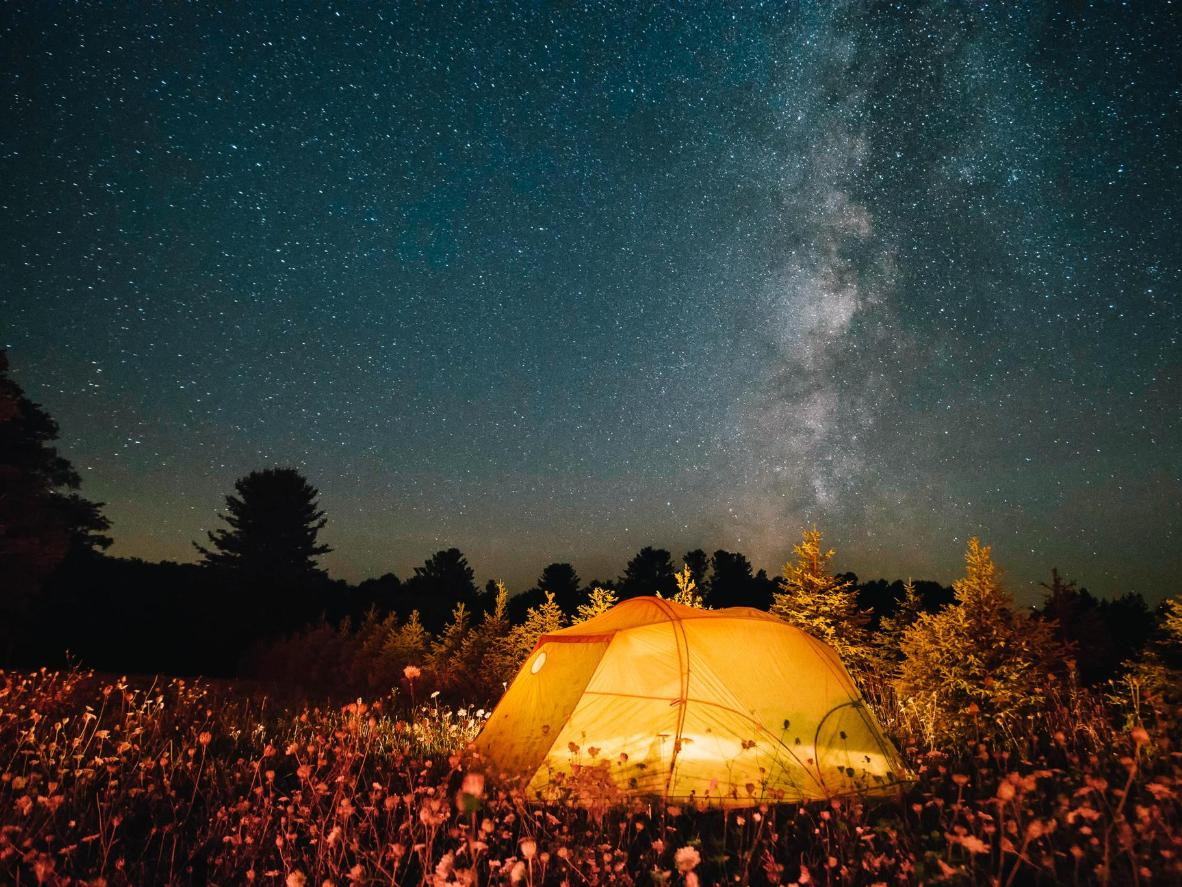 Enjoy a 360º view of the night sky from the park's Astronomy Field