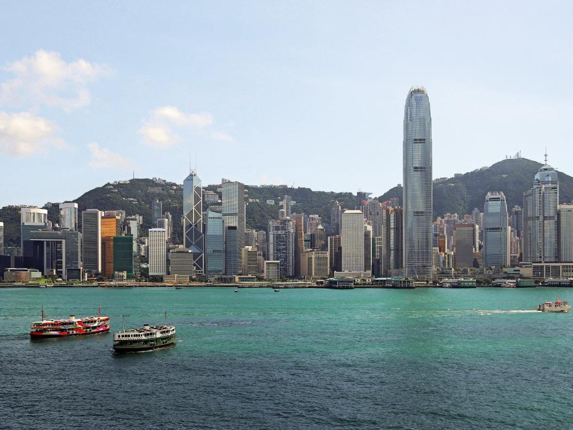 Victoria Harbour in Hong Kong provides sensational cityscape views