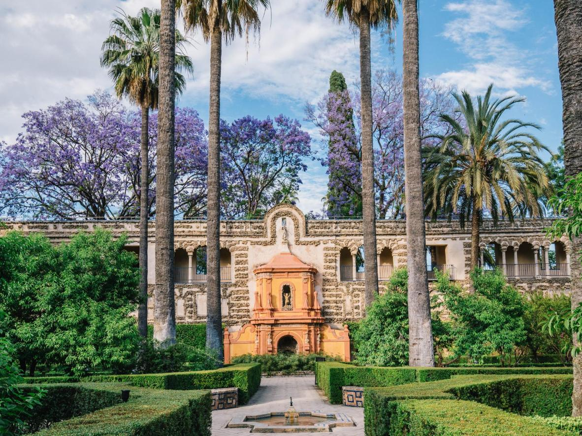 The Alcázar of Seville in Spain