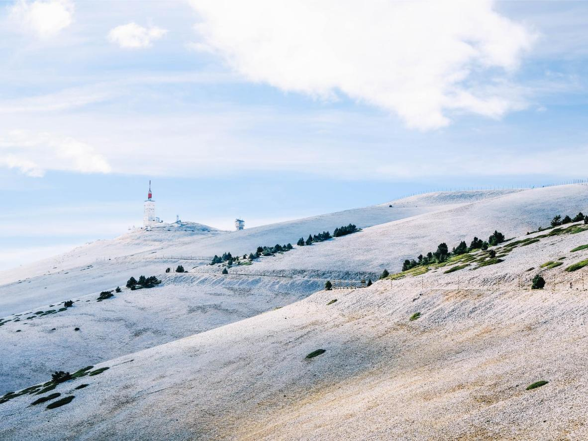 The ascent up Mont Ventoux is quieter in the winter months