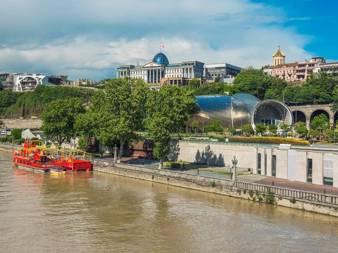 A view of the River Kura and Tbilisi Old Town