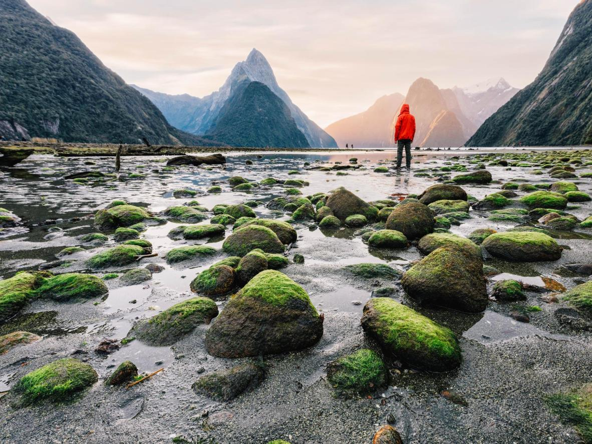 Milford Sound, described by Rudyard Kipling as the eighth Wonder of the World