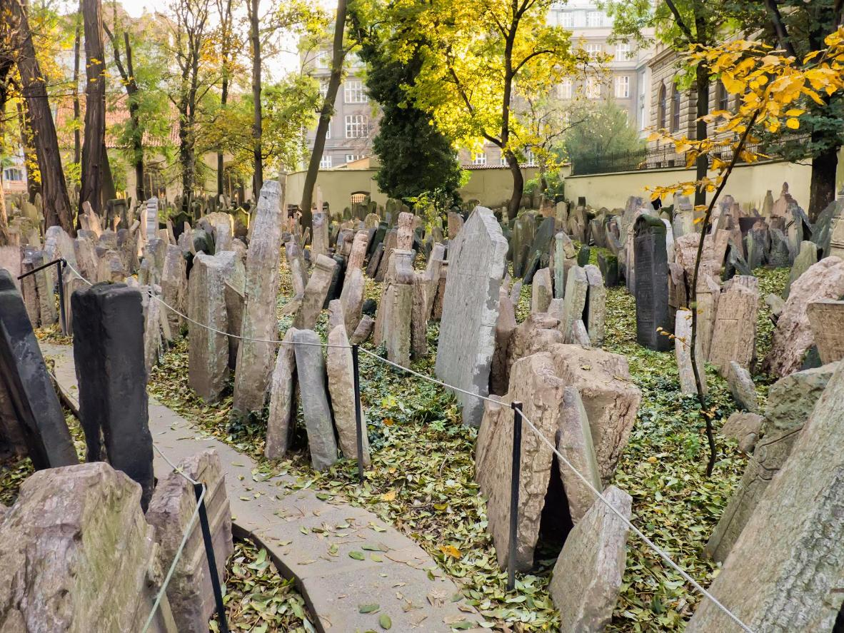 Headstones in the Old Jewish Cemetery, Prague