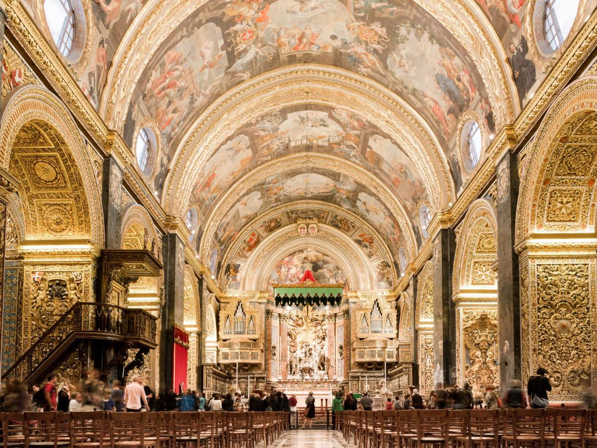 St John's Co-Cathedral in Valletta in Malta